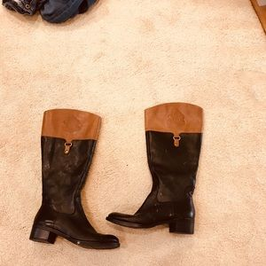 Franco Sarto black & brown boots.